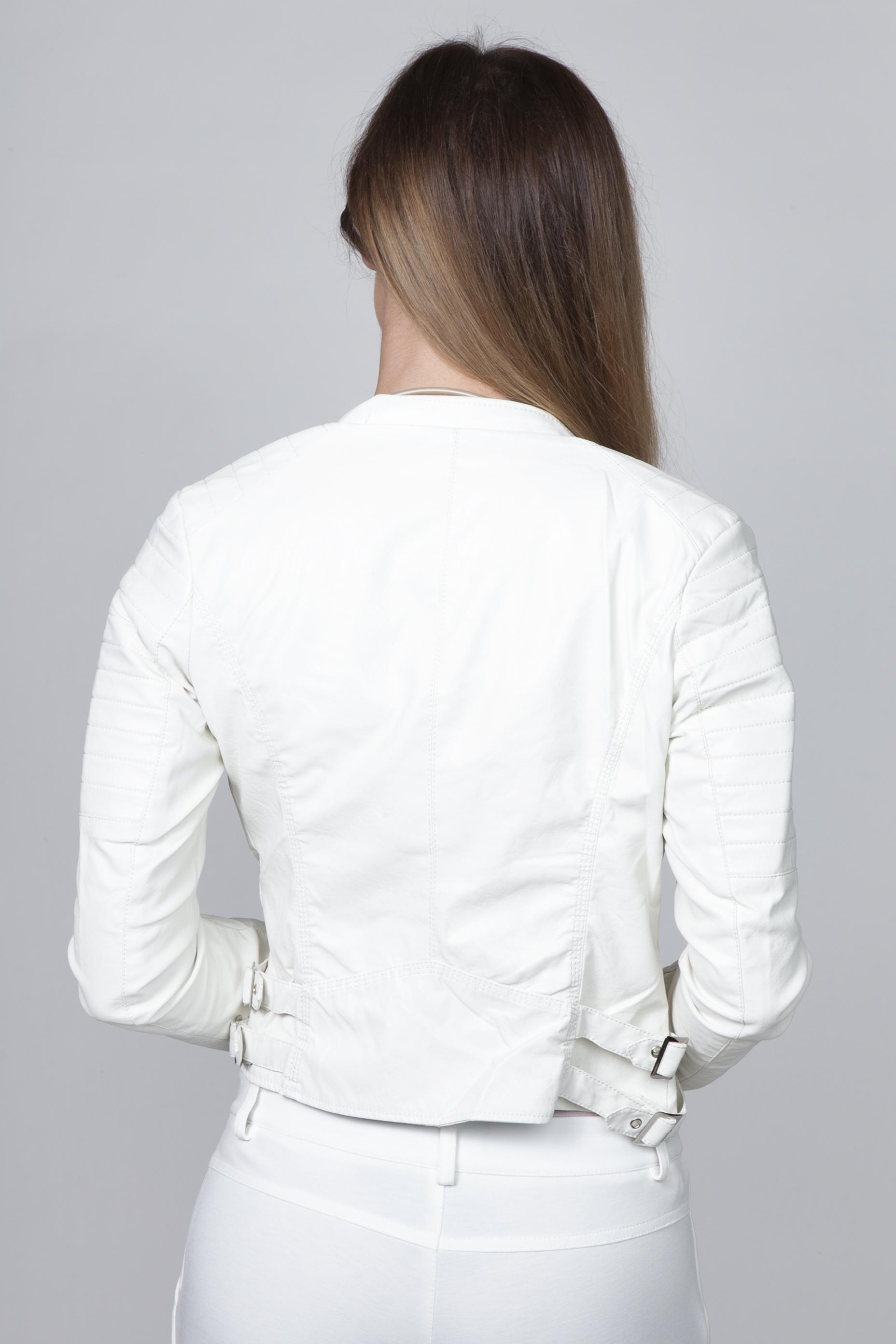 AMNESIA Oldalt zippes műbőr kabát Amnesia webáruház