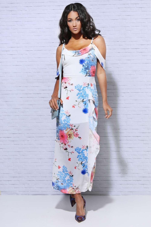 f63f1457b0 AMNESIA Virágos maxi ruha - Amnesia webáruház