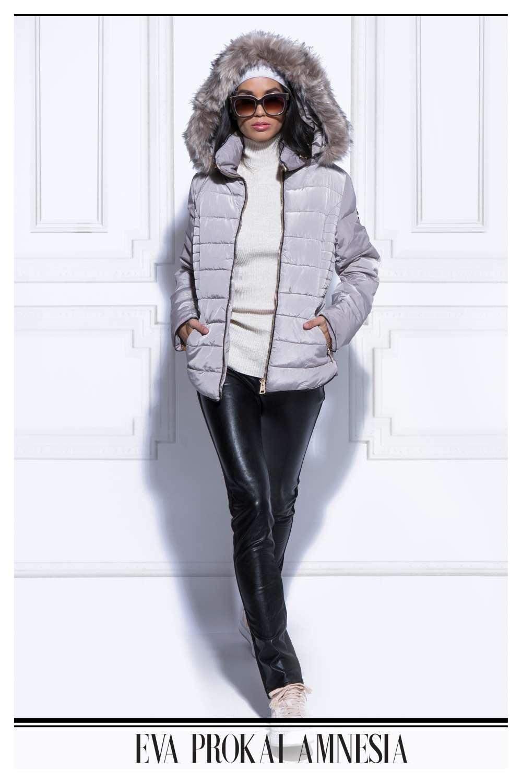 AMNESIA Oldalt steppelt kabát - Amnesia webáruház ae9c8f43d8