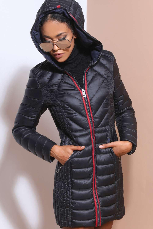 AMNESIA Hosszú steppelt kabát Amnesia webáruház