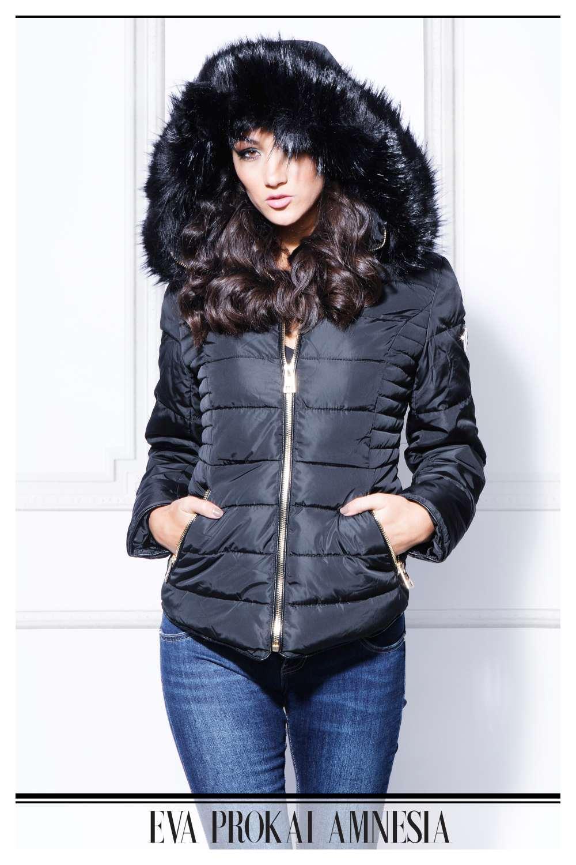 AMNESIA Oldalt steppelt kabát Amnesia webáruház
