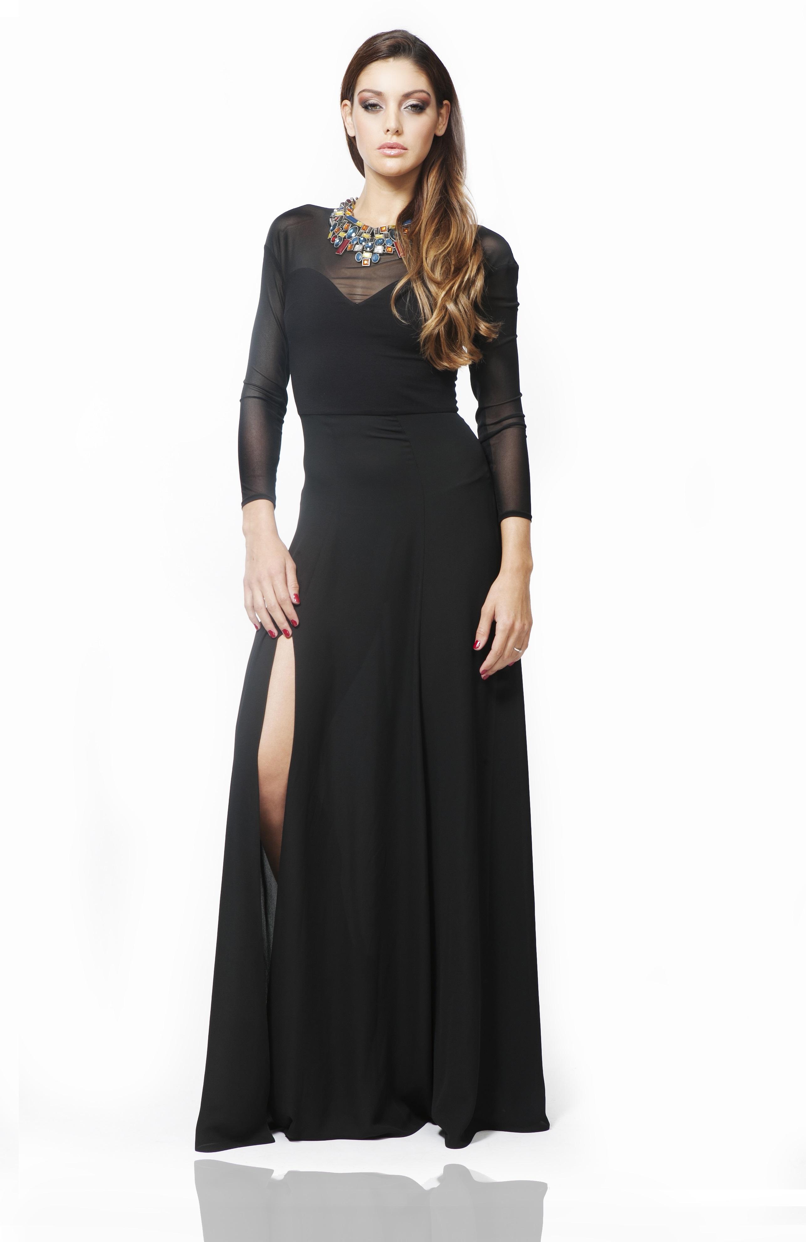 AMNESIA Elegáns fekete ruha - Amnesia webáruház a3333a3c52