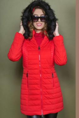 0c309214ce AMNESIA Bőrbetétes hosszú kabát