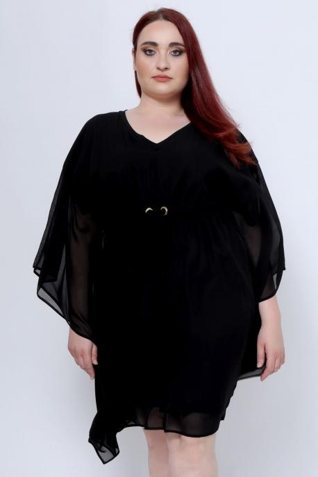 AMNESIA Dreja plus ruha fekete