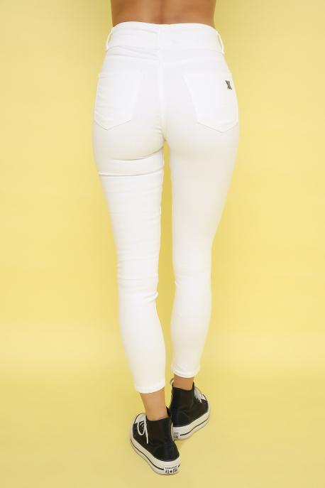 AMNESIA Gombos derekú nadrág fehér