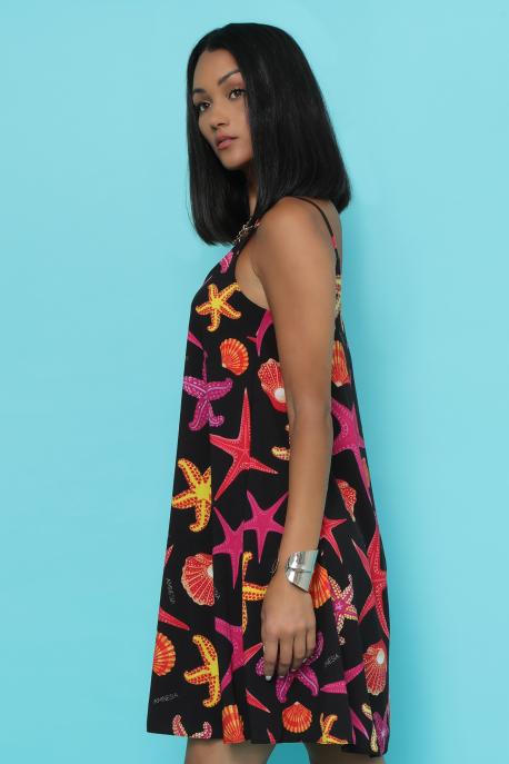 AMNESIA Miamo ruha fekete/tengeri