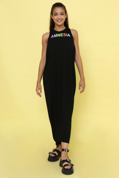 AMNESIA Ricell ruha+ top fekete/világoskék