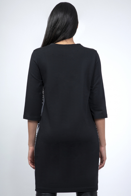 AMNESIA Dixa oldalbetétes ruha fekete