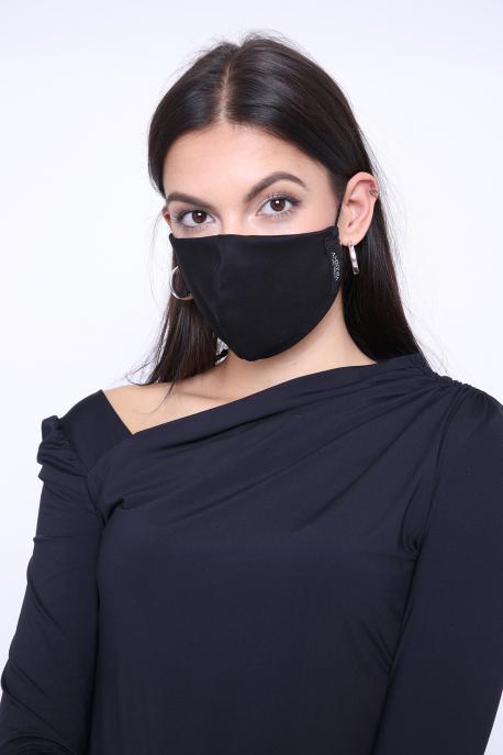 AMNESIA Nyakba akaszthatós maszk fekete
