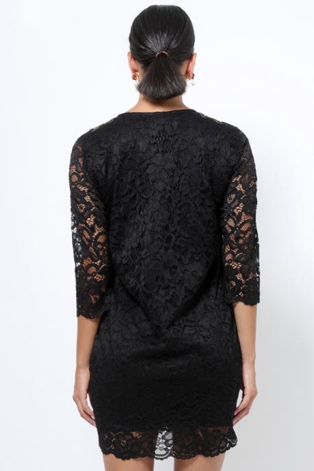 AMNESIA Didot hímzett ruha fekete