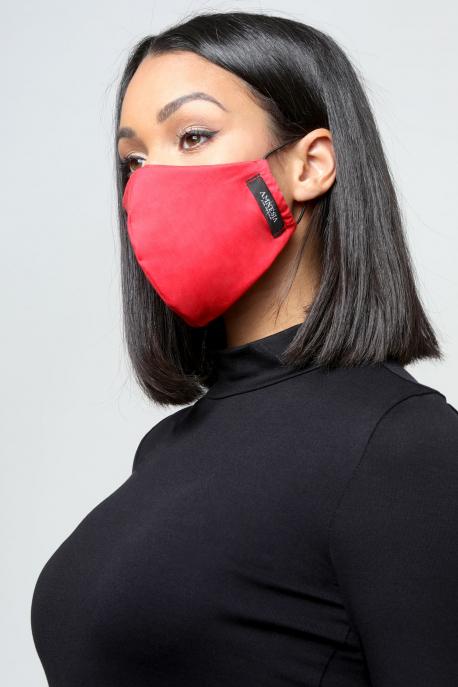 AMNESIA Nyakba akaszthatós maszk piros