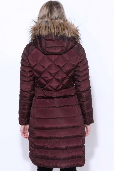 AMNESIA Rombusz steppelt hosszú kabát