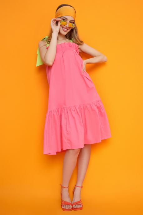 AMNESIA Temper ruha rózsaszín/világoszöld