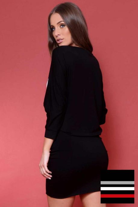 25d87d3d0b AMNESIA Menigma ruha - fekete-szürke-fehér-piros - Amnesia webáruház