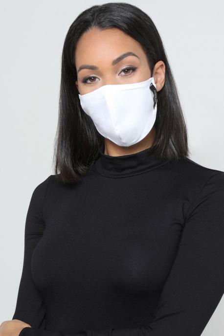 AMNESIA Nyakba akaszthatós maszk fehér