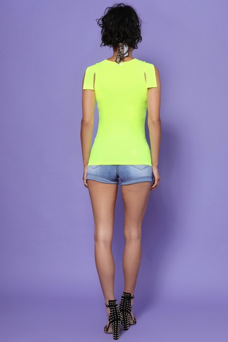 AMNESIA Dabvin felső UV sárga