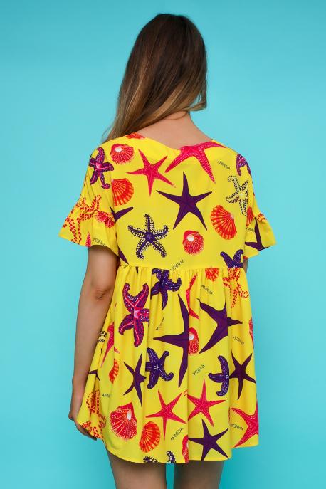 AMNESIA Borna ruha sárga/ tengeri