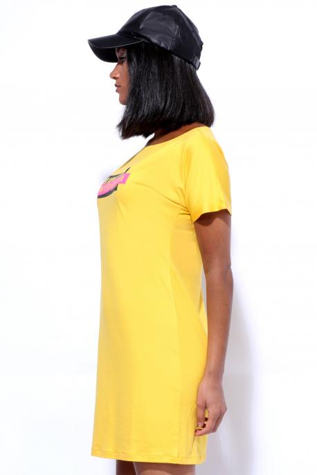 AMNESIA Szümi ruha limited sárga