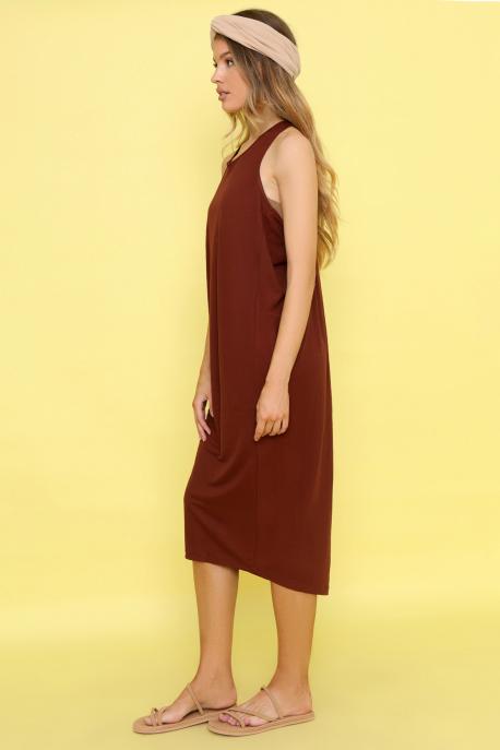 AMNESIA Ricell ruha+ top barna/barna top