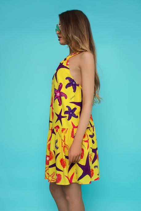 AMNESIA Tominika ruha sárga/tengeri