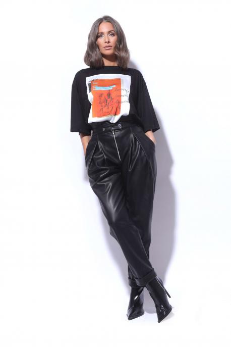 AMNESIA NOLCHA Bőrhatású nadrág