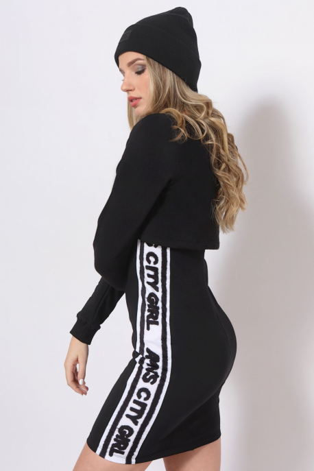 AMNESIA Delicious ruha fekete