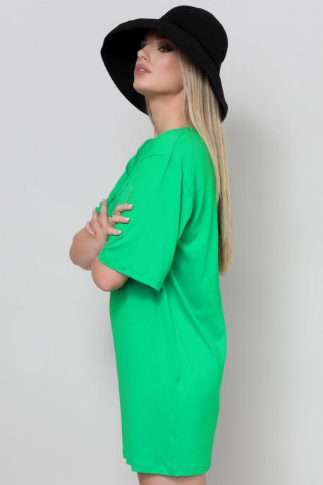 AMNESIA Arléna filmnyomott tunika zöld City