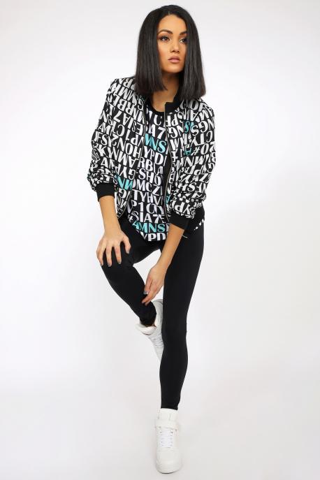 AMNESIA Jogoti jacket fekete/betűs