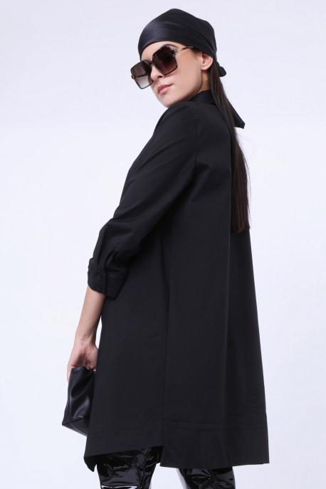 AMNESIA Tovila tunika fekete