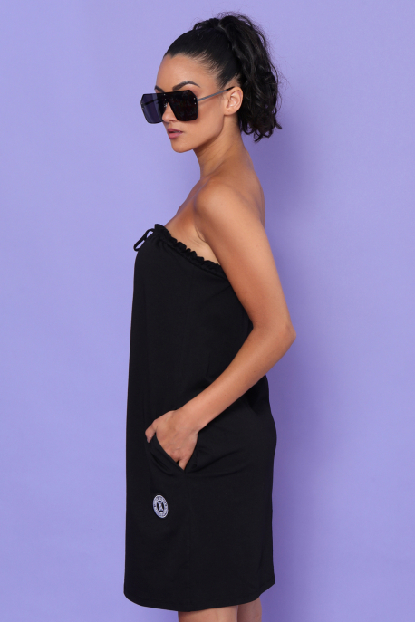 AMNESIA Tazlinka ruha fekete