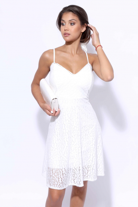 AMNESIA Vegyes ruha csipke fehér