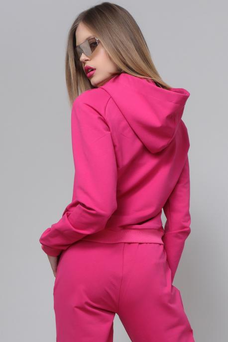 AMNESIA Darlin pink kapucnis felső