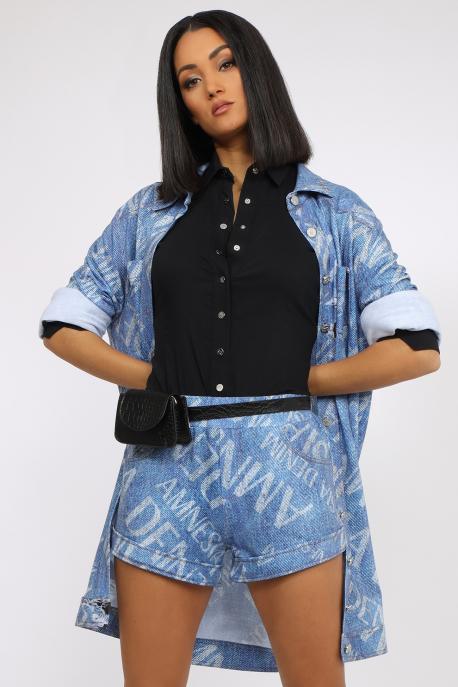 AMNESIA Aribina short kék