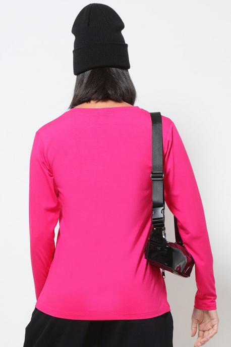 AMNESIA T-póló hosszú ujjú pink girl power