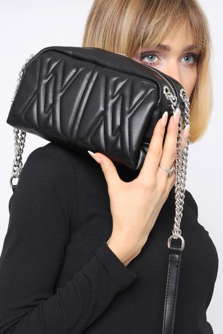 AMNESIA Láncos táska fekete