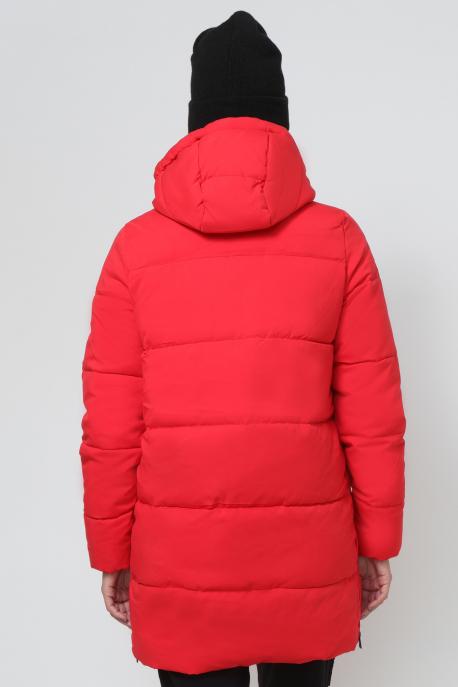 AMNESIA Oldalt zippes 3/4-es kabát piros