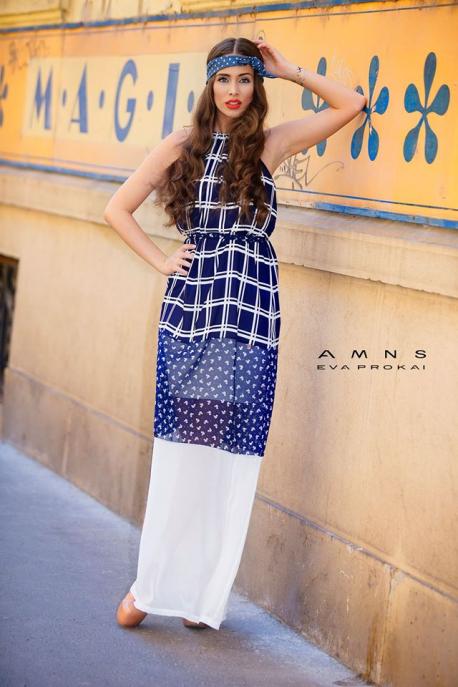 AMNESIA K690 háromrészes maxi ruha