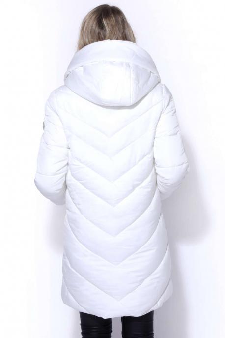 AMNESIA Hosszú steppelt kabát
