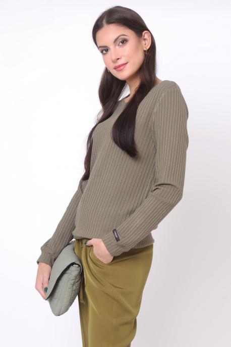 AMNESIA Dorio bordás felső khaki