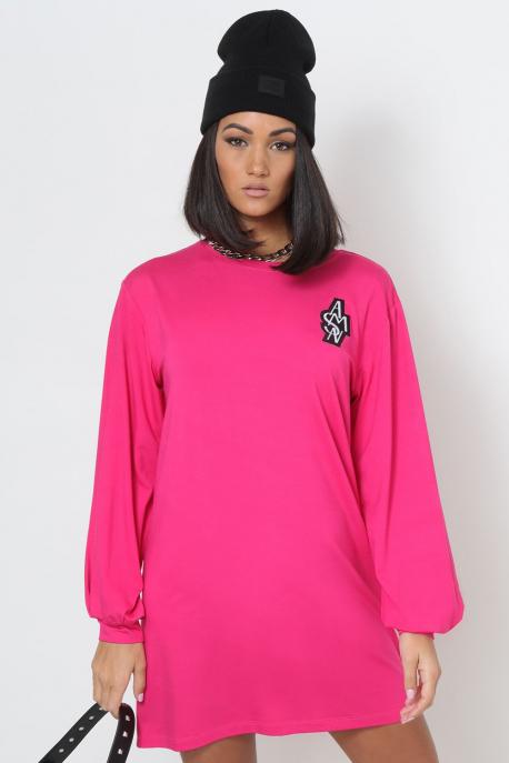 AMNESIA Arléna tunika pink