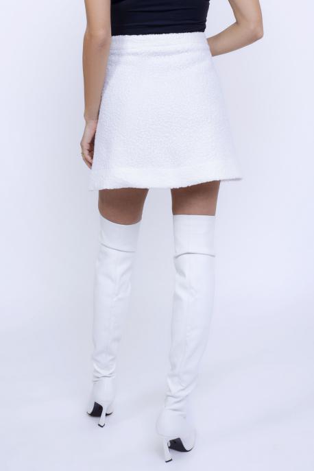 AMNESIA Ambrózia zakó+szoknya fehér