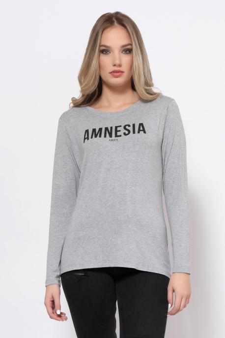 AMNESIA T-póló hosszú ujjú szürke/amnesia