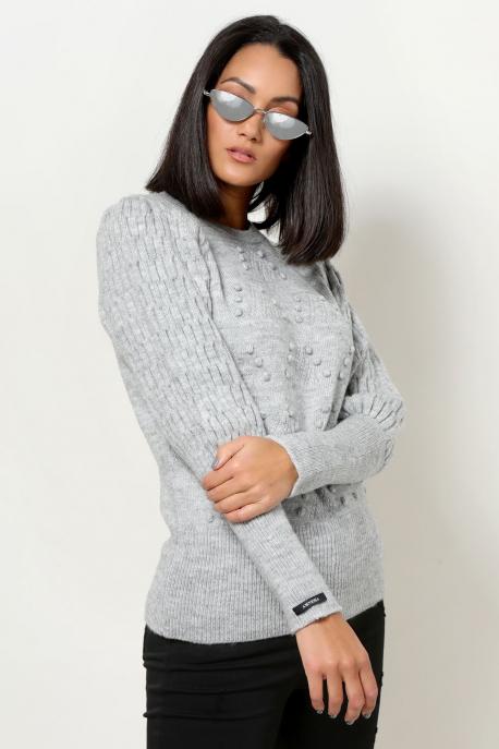 AMNESIA Vegyes pulóver szürke