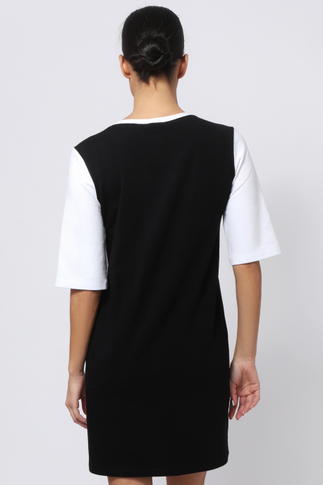 AMNESIA Alamandra tunika fehér/szürke/fekete