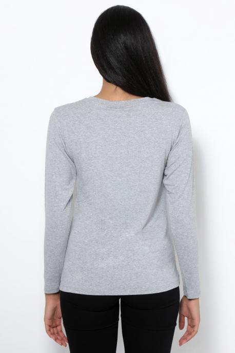 AMNESIA T-póló hosszú ujjú szürke/AMNS