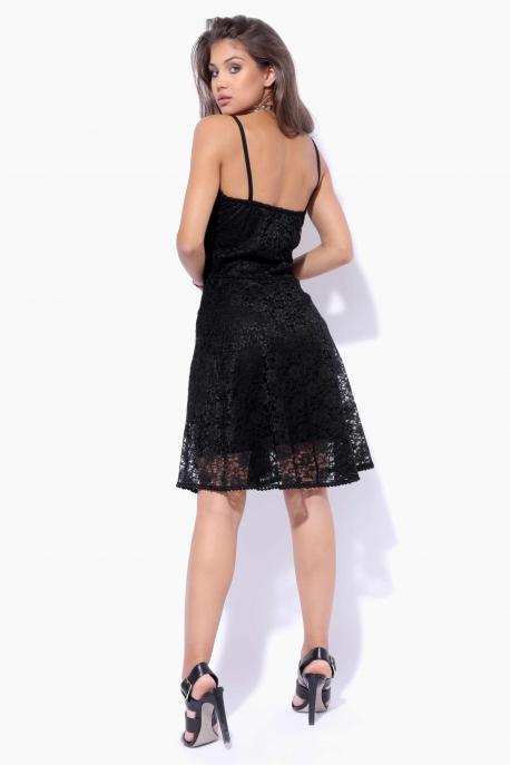 AMNESIA Vegyes ruha csipke fekete