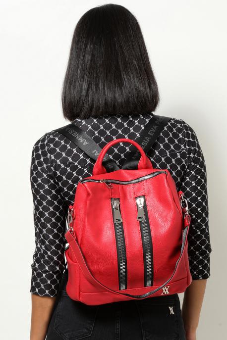 AMNESIA 2 Zippes hátizsák piros
