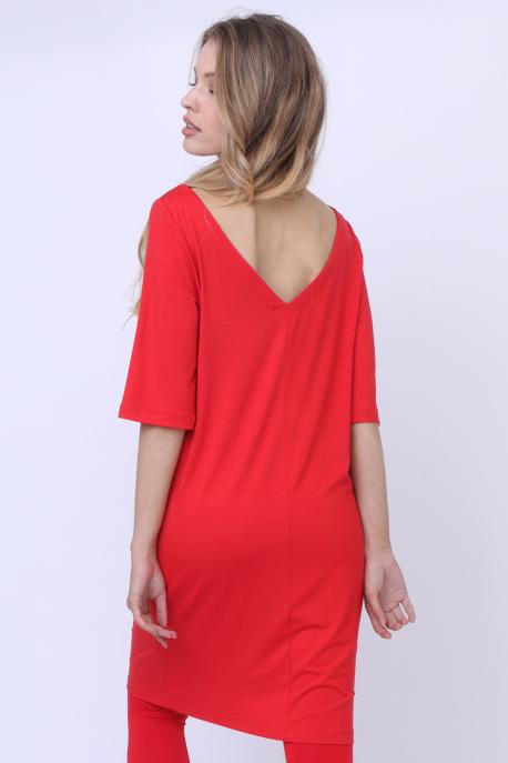 AMNESIA Arola köves ruha piros