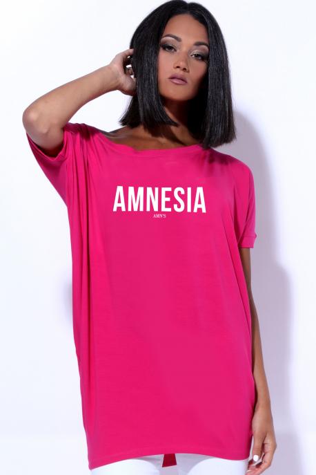AMNESIA Bony filmnyomott felső rózsaszín