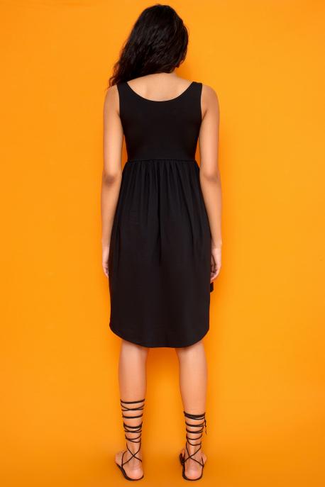 AMNESIA Taparina ruha fekete
